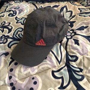 pink and grey adidas hat